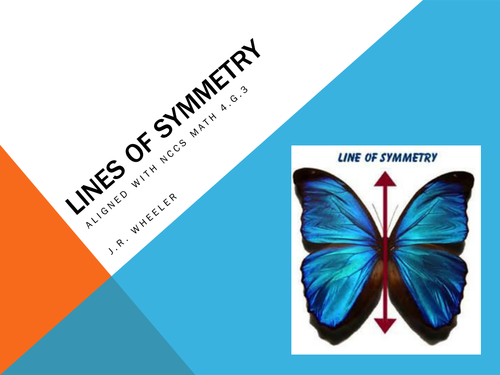 Lines of Symmetry - Aligned with NCCS 4.G.3; Lesson Plan, Presentation and Homework Packet