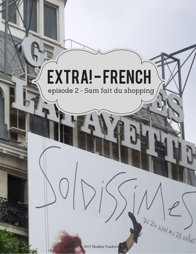 extra french worksheets to accompany episode 2 sam fait du shopping by frackiewicz123. Black Bedroom Furniture Sets. Home Design Ideas