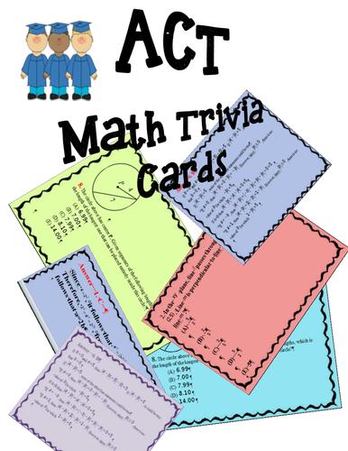 ACT Math Trivia Cards