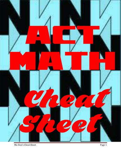 ACT Math Cheat Sheet