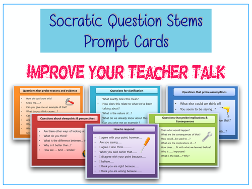 Socratic Question -Stem  Cards