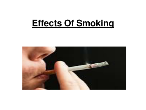 OCR AS Biology - Effects of smoking on the body.