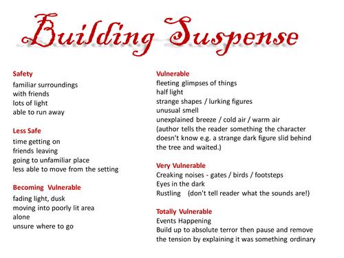 Techiniques Authors Use To Build Suspense In Literature