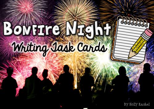 Bonfire Night Writing Activity Cards