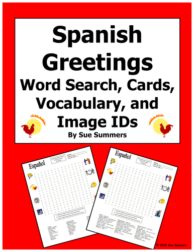 Spanish greetings word search puzzle vocabulary cards and image spanish greetings word search puzzle vocabulary cards and image ids by suesummersshop teaching resources tes m4hsunfo
