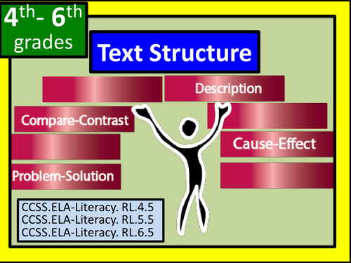 Text Structures: Compare/Contrast, Description, Cause/Effect, and Problem/ Solution