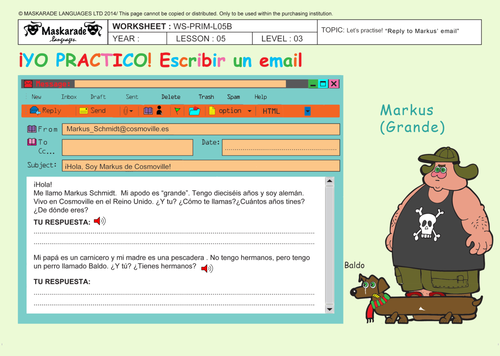 SPANISH-Y5/Y6-ABOUT YOU: Writing an email/ Who are they? / Professions