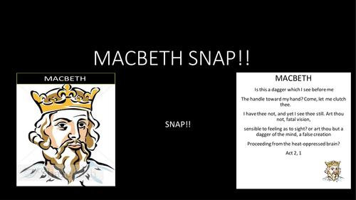 Macbeth Snap game