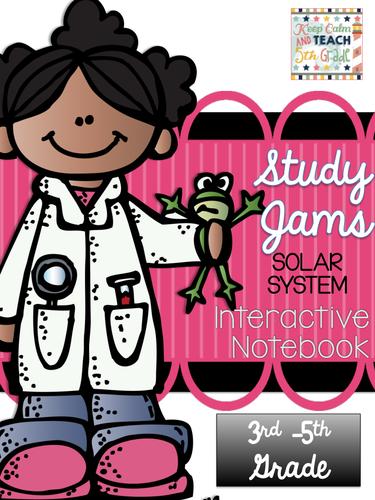 Solar System Study Jams Interactive Notebook