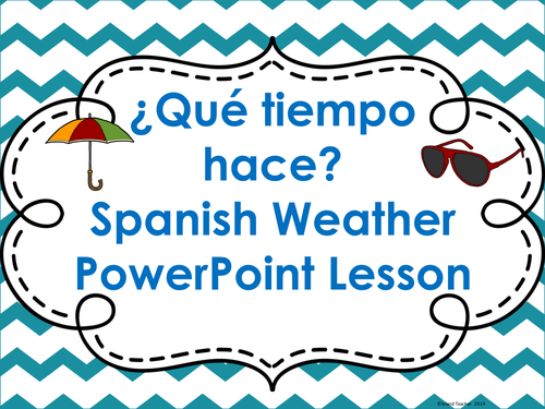 spanish weather powerpoint lesson word wall and vocabulary lists by