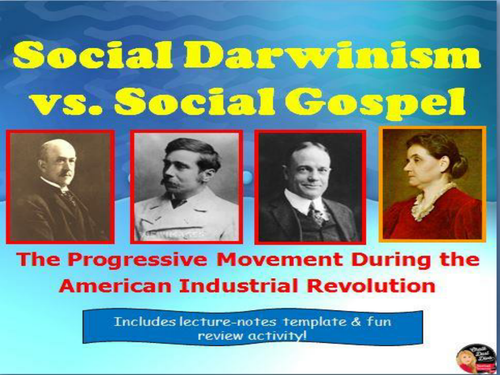 Social Darwin Vs Social Gospel Lecture Us History By  Social Darwin Vs Social Gospel Lecture Us History By Chalkdustdiva   Teaching Resources  Tes