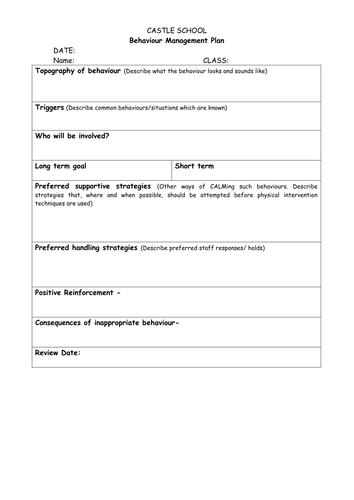 sen individual behaviour management plans learning behaviour plan monitoring behaviour sheet. Black Bedroom Furniture Sets. Home Design Ideas