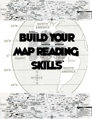 Map Reading Skills Worksheets