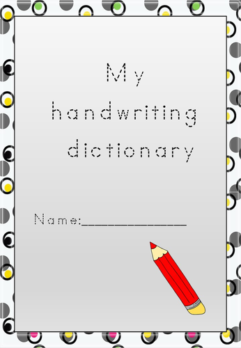 Handwriting Dictionary Booklet