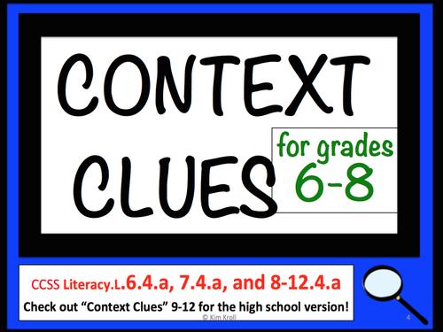 Context Clues 6-8