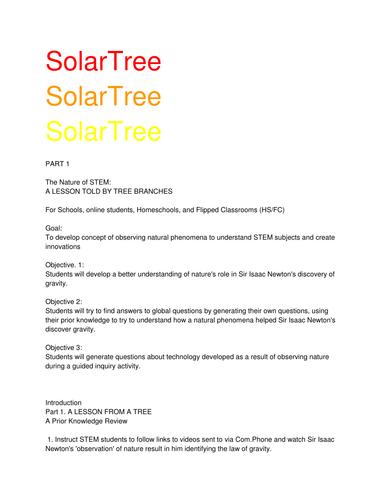 Solar Tree: Part One