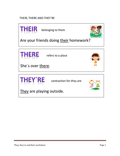 Their They Re And There By Skyemorgi Teaching Resources Tes