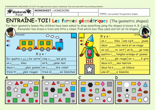 french y5 6 at school the colours geometric shapes by