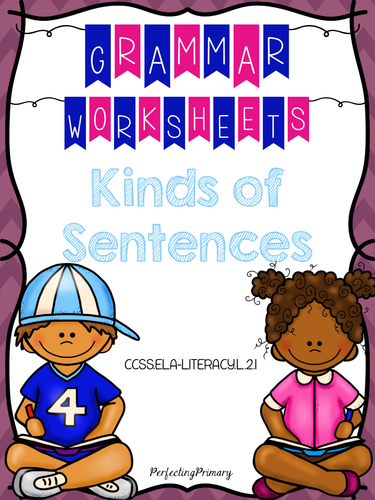 No Prep Kinds of Sentences Mini-Unit