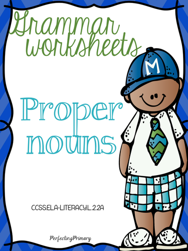 No Prep Proper Nouns Mini-Unit