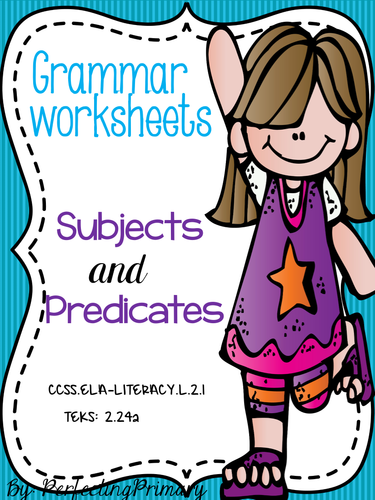 No Prep Subject and Predicates Grammar Lesson