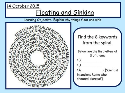 Buoyancy Density Floating and Sinking by laurenbuss Teaching – Buoyancy Worksheet
