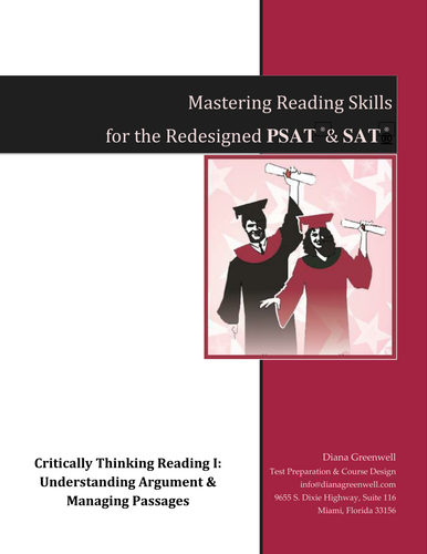 Mastering Reading Skills for Redesigned SAT & PSAT, Critical Reading Part I