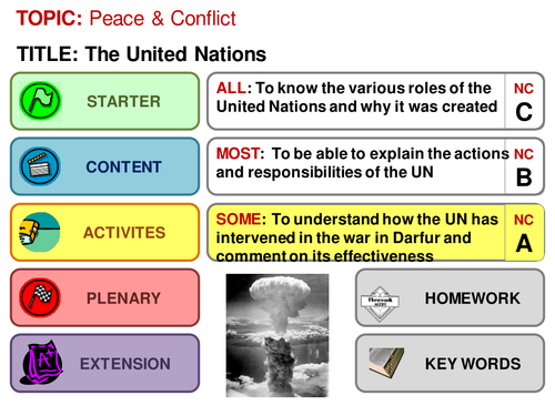 United Nations Differentiated lesson