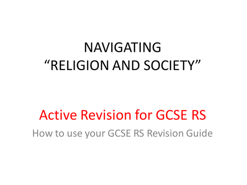 GCSE Religious Studies Active Revision  Guide