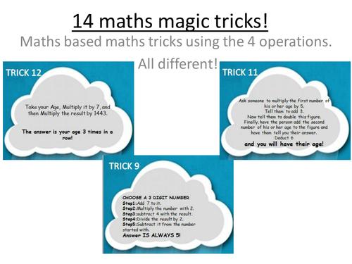 14 maths based magic tricks by erylands - Teaching Resources - Tes