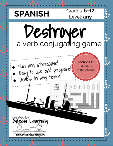 Destroyer - A Verb Conjugation Game - Practice Conjugating Any Tense - Spanish