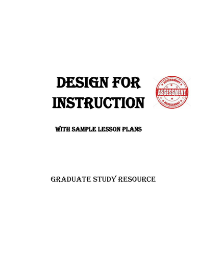 Design for Instruction Thesis