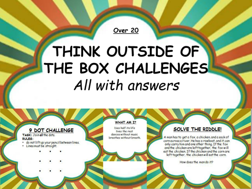 Over 20 Think Outside Of The Box Challenges By Erylands Teaching