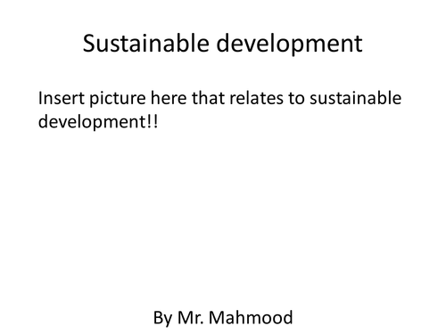 Sustainable development for year 8 science