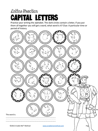 Cursive Alphabet Handwriting Worksheets for 5 - 11 years: Mary Rose