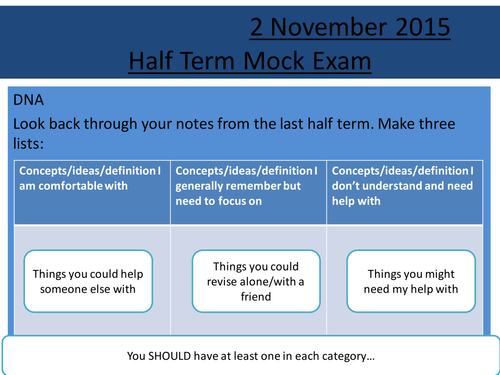Sociology H580 / H180 Mini-Mock Preparation Lesson - Tests Lessons 1-11
