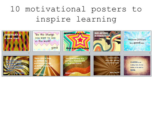 10 posters to inspire learning and reading