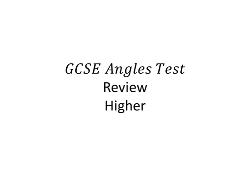 Angles GCSE Higher Worked Exam Solutions New Spec