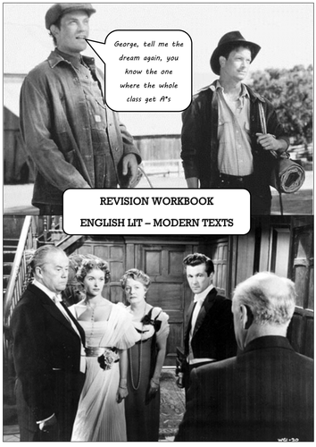 GCSE AQA Modern Texts - Of Mice and Men & An Inspector Calls 10-week revision booklet