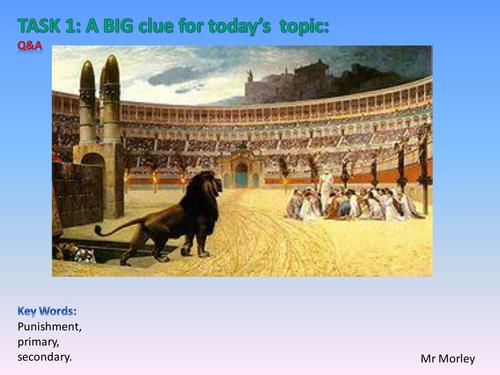 The Roman Empire: Crime and Punishment.