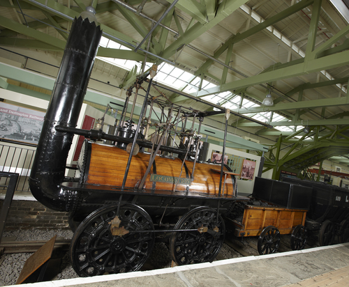 Teaching History with 100 Objects -The first passenger locomotive