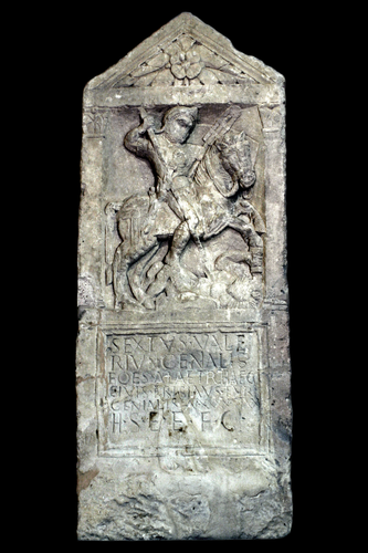 Teaching History with 100 Objects -Tombstone of a Roman cavalryman