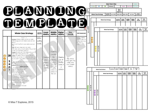 Editable Planning Template