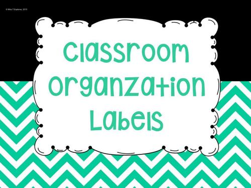 Editable Classroom Teacher Labels
