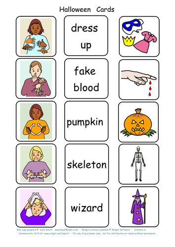 BSL Signs for Halloween