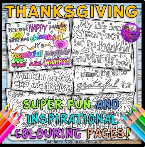Thankful Quotes Colouring Pages: fun, inspiring and relaxing for teens!