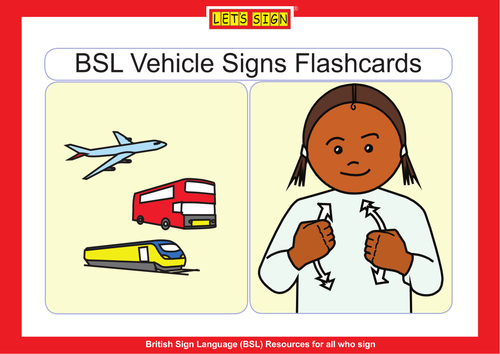 BSL VEHICLE SIGNS FLASHCARDS
