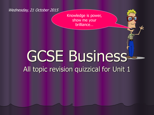 GCSE Business Revision Game (Edexcel 5BS01)
