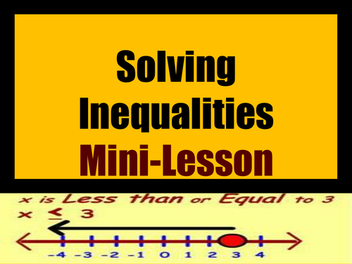 Solving Inequalities Mini-Lesson