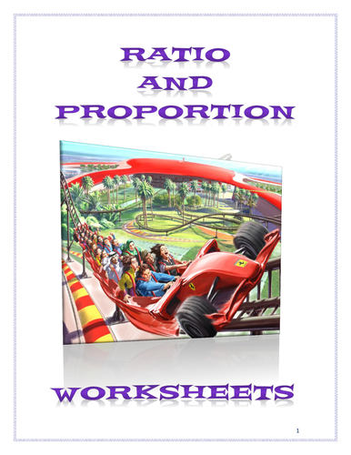 """Ratio and Proportion Worksheets and Recipes """"on the side"""""""